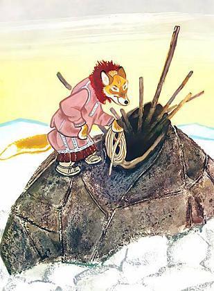 Сказка Ворон и лиса, Эскимосская сказка