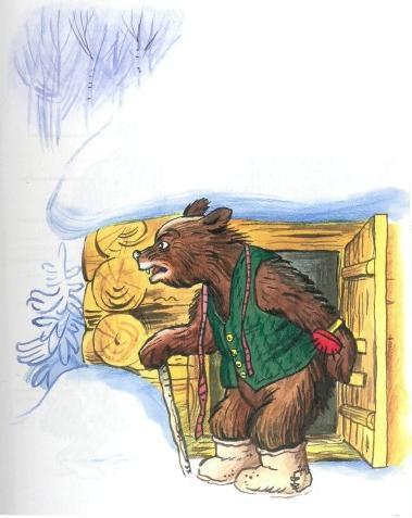 медведь у дома зима