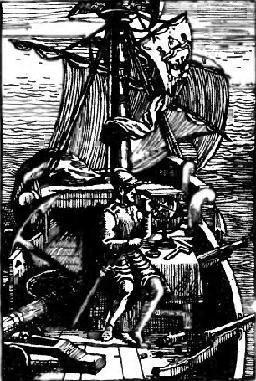Магеллан во время его знаменитого кругосветного путешествия