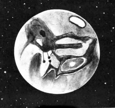 Марс по рисунку Антониади.